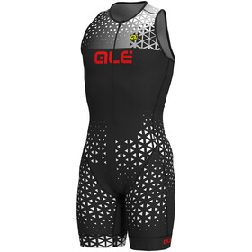 Alé Cycling Rush Tri Sleeveless Unitard Long Herren black-white